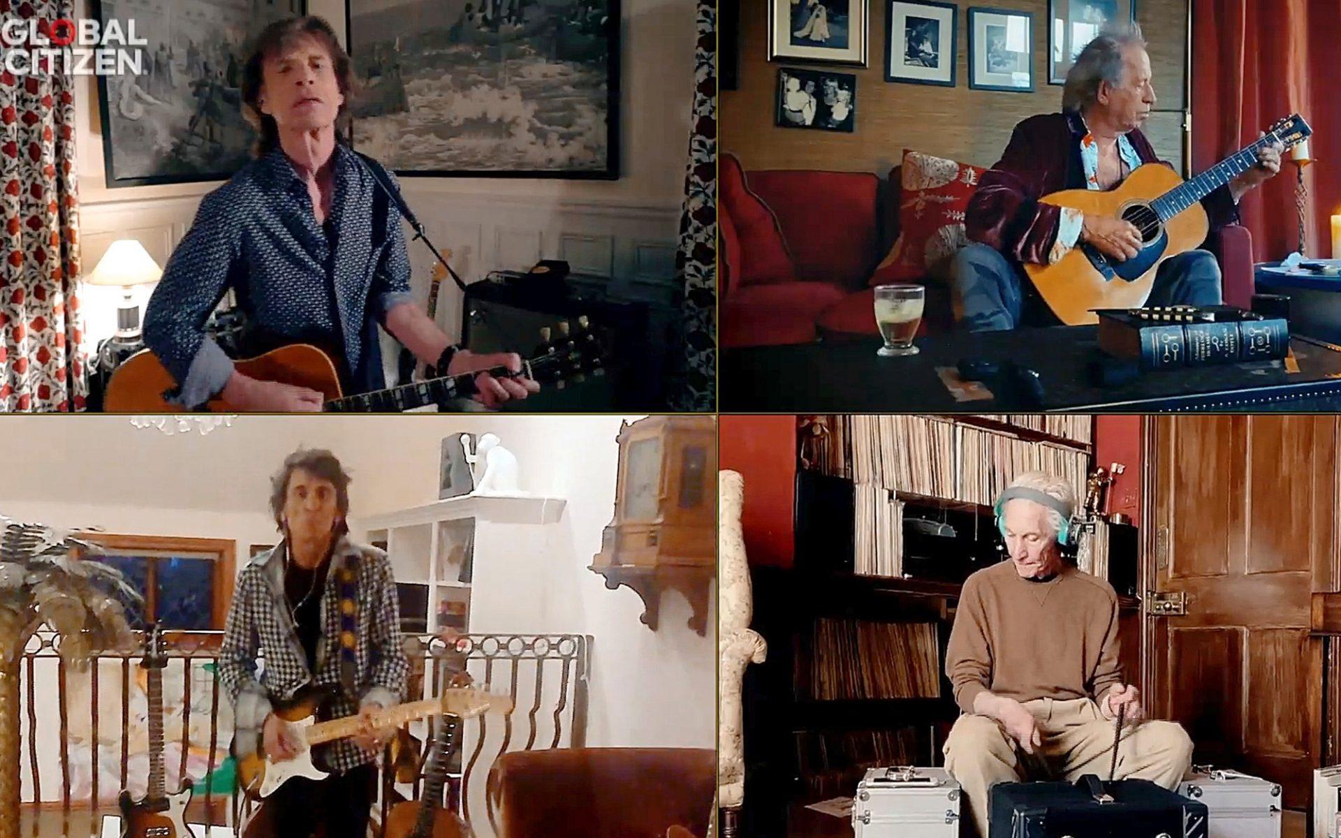 Show à distância da banda Rolling Stones