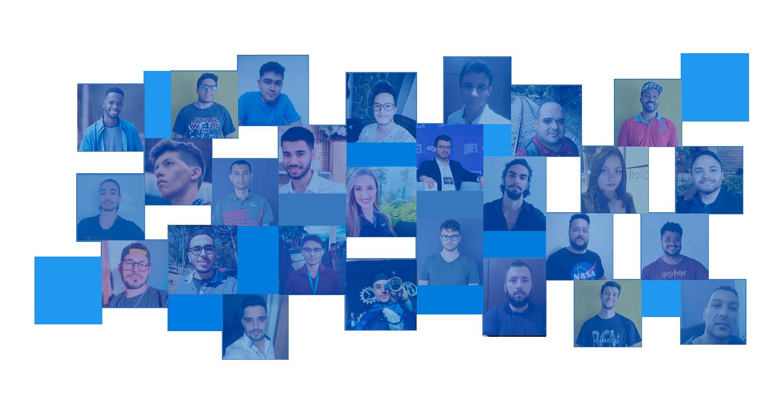 background com fotos de colaboradores jmv technology